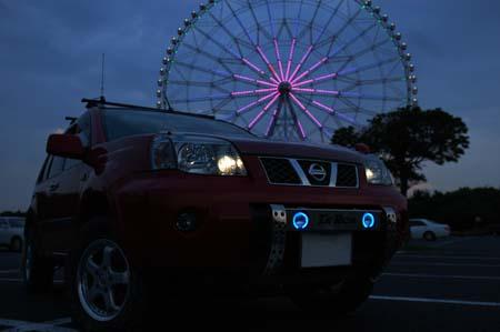 T30エクストレイル マイナー後用 フォグランプ組込み式ランプステー LED DOTARM